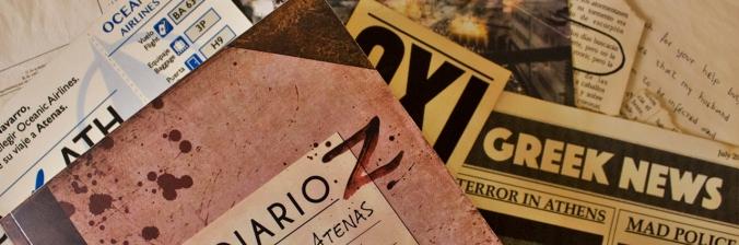 """Contenido exclusivo del libro zombie: """"Diario Z: La Nueva Atenas""""."""