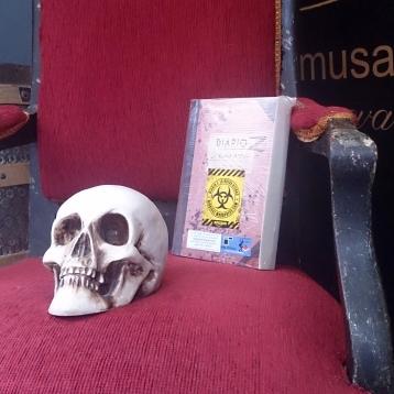 """Libro zombie """"Diario Z: La Nueva Atenas"""" en BookCrossing."""