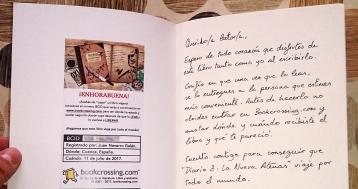 """Label del libro zombie """"Diario Z: La Nueva Atenas"""" en BookCrossing."""