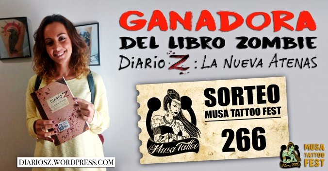 """Ganadora del libro zombie del año: """"Diario Z: La Nueva Atenas"""""""