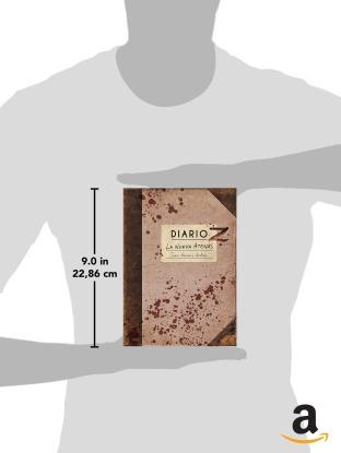 """Dimensiones de la novela zombie """"Diario Z: La Nueva Atenas"""" en Amazon."""