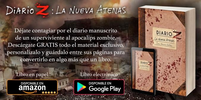 """eBook de la novela zombie """"Diario Z: La Nueva Atenas"""" en Google Play Store"""